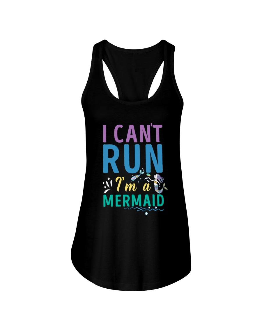 Mermaid I Can't Run Ladies Flowy Tank