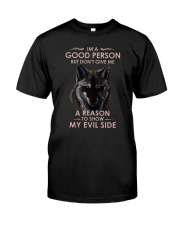 Wolf Good Person Classic T-Shirt front