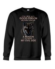 Wolf Good Person Crewneck Sweatshirt thumbnail