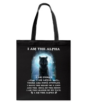 Wolf - I am the Alpha Tote Bag thumbnail