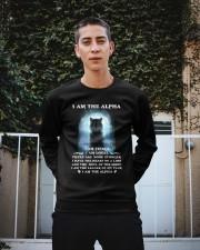 Wolf - I am the Alpha Crewneck Sweatshirt apparel-crewneck-sweatshirt-lifestyle-01