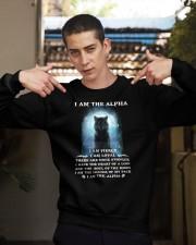 Wolf - I am the Alpha Crewneck Sweatshirt apparel-crewneck-sweatshirt-lifestyle-04