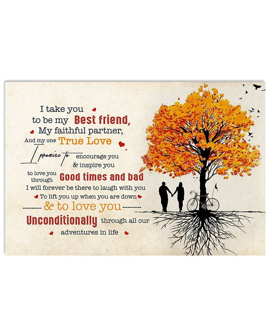 Family Husband and Wife Unconditionally 17x11 Poster