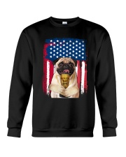 Pug - World's best dad Crewneck Sweatshirt front