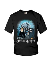 French Bulldog Coffee or Die Youth T-Shirt thumbnail