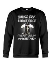 Dog Border Collie Guardian Angel Crewneck Sweatshirt thumbnail