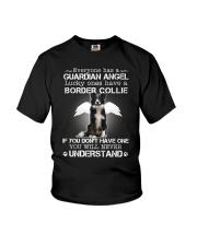Dog Border Collie Guardian Angel Youth T-Shirt thumbnail