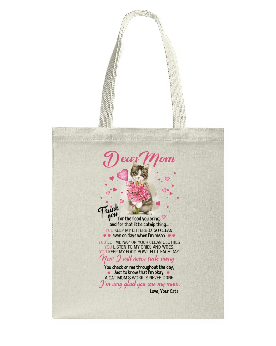 Cat Dear Mom Tote Bag