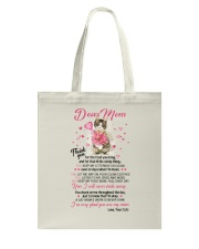 Cat Dear Mom Tote Bag front