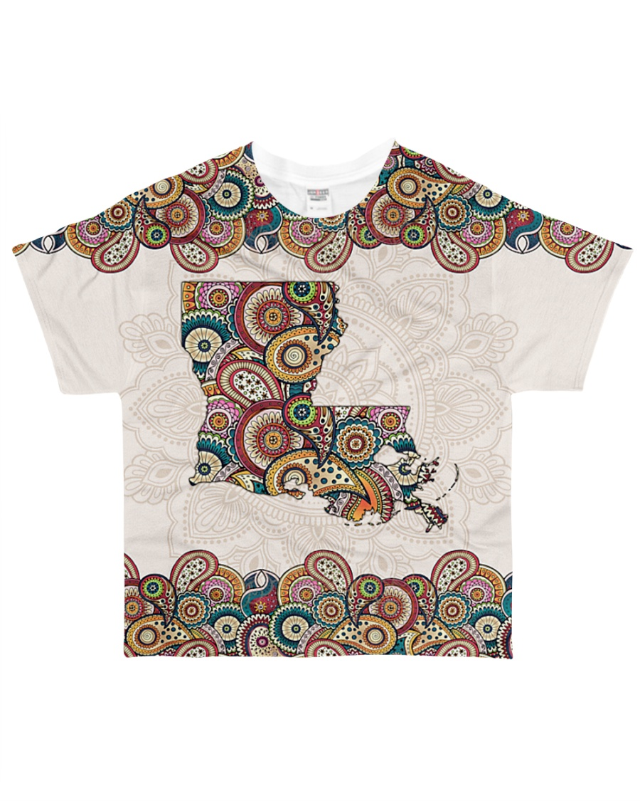 Louisiana Mandala Pattern T5TO All-over T-Shirt