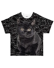 Black Cat Awesome All-over T-Shirt front