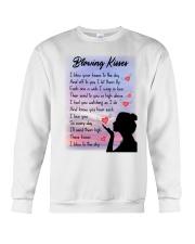 Family To My Angel Husband Blowing Kisses Crewneck Sweatshirt thumbnail