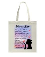 Family To My Angel Husband Blowing Kisses Tote Bag thumbnail