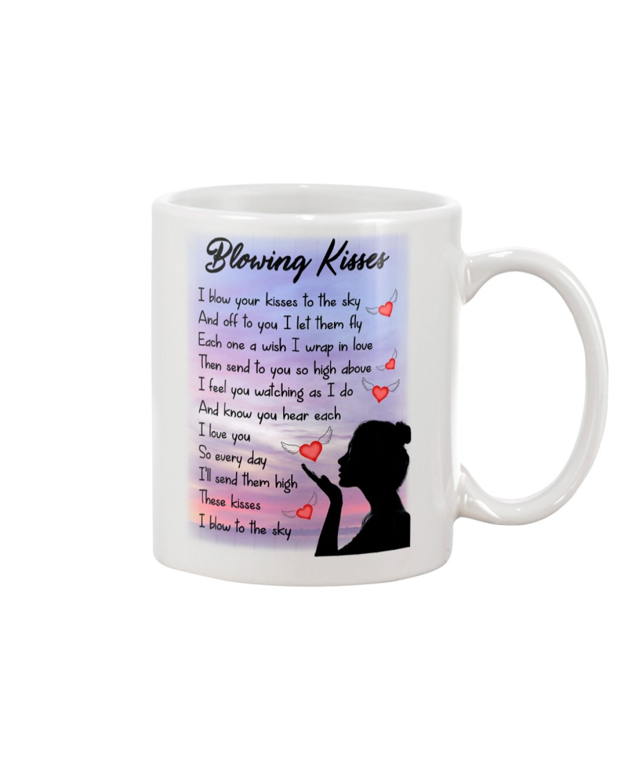 Family To My Angel Husband Blowing Kisses Mug