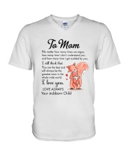 Family Mom Love You Always V-Neck T-Shirt thumbnail