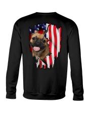 French Bulldog Behind Flag Crewneck Sweatshirt thumbnail