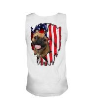 French Bulldog Behind Flag Unisex Tank thumbnail