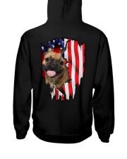 French Bulldog Behind Flag Hooded Sweatshirt thumbnail