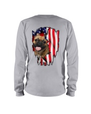 French Bulldog Behind Flag Long Sleeve Tee thumbnail