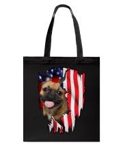 French Bulldog Behind Flag Tote Bag thumbnail
