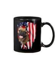 French Bulldog Behind Flag Mug thumbnail