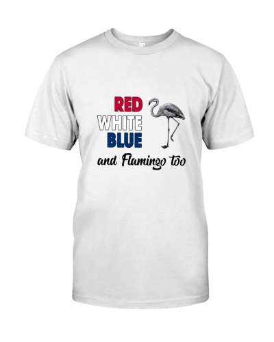 Red White Blue Flamingo