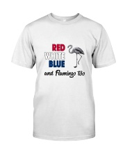 Red White Blue Flamingo Classic T-Shirt front
