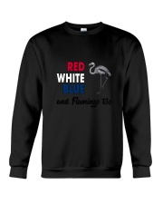 Red White Blue Flamingo Crewneck Sweatshirt thumbnail