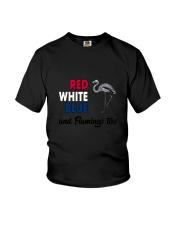 Red White Blue Flamingo Youth T-Shirt thumbnail
