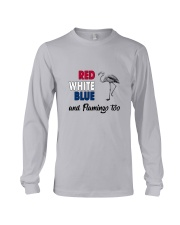 Red White Blue Flamingo Long Sleeve Tee thumbnail