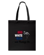 Red White Blue Flamingo Tote Bag thumbnail