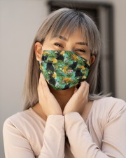 Tropical Pineapple Black Cat H31729 Cloth face mask aos-face-mask-lifestyle-17