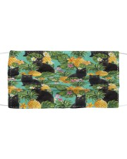Tropical Pineapple Black Cat H31729 Cloth face mask front