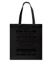 Family Son-in-law - You are great Tote Bag thumbnail