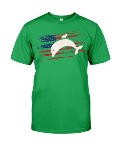 Dolphin US American Flag Beluga 4t