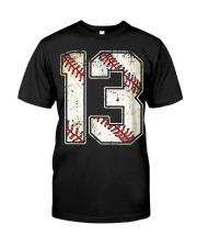 13 Baseball Jersey Number 13 Re Classic T-Shirt thumbnail