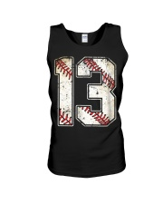13 Baseball Jersey Number 13 Re Unisex Tank thumbnail