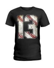 13 Baseball Jersey Number 13 Re Ladies T-Shirt thumbnail