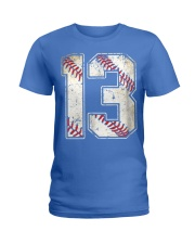 13 Baseball Jersey Number 13 Re Ladies T-Shirt front