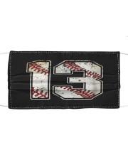 13 Baseball Jersey Number 13 Re Cloth face mask thumbnail