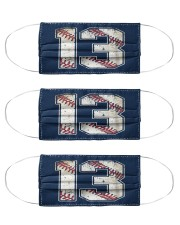 13 Baseball Jersey Number 13 Re Cloth Face Mask - 3 Pack front
