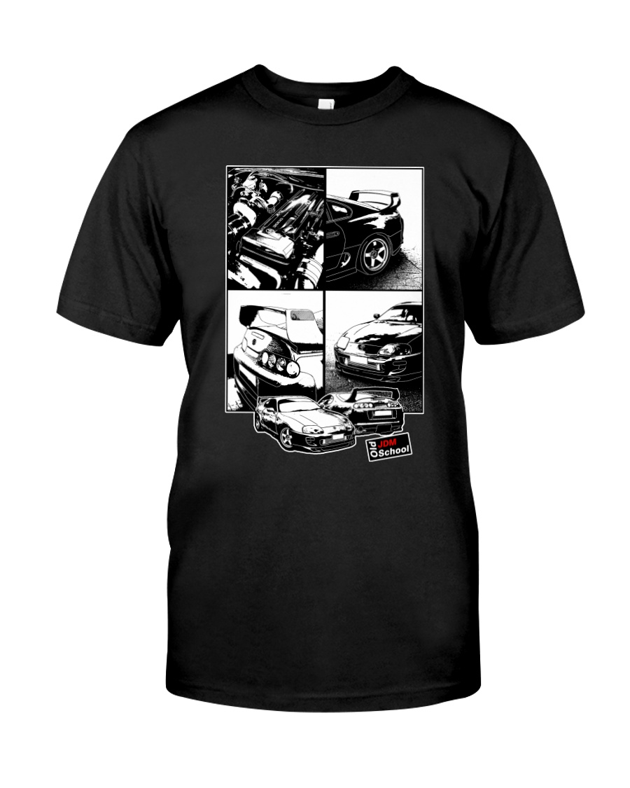 Supra car JDM White Frame Classic T-Shirt