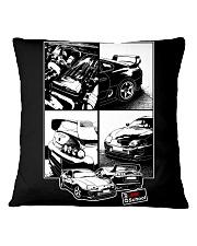 Supra car JDM White Frame Square Pillowcase thumbnail
