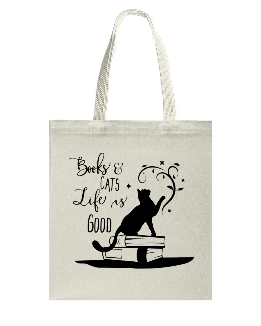 Cats and Books Tote Bag