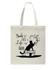 Cats and Books Tote Bag front