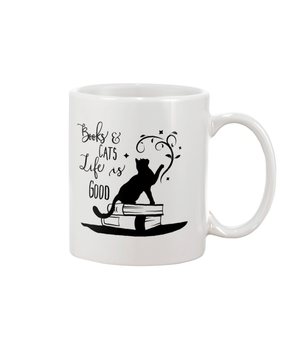 Cats and Books Mug