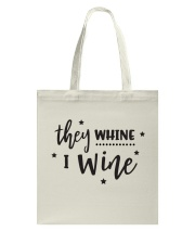 I Wine in black Tote Bag front