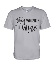 I Wine in black V-Neck T-Shirt tile