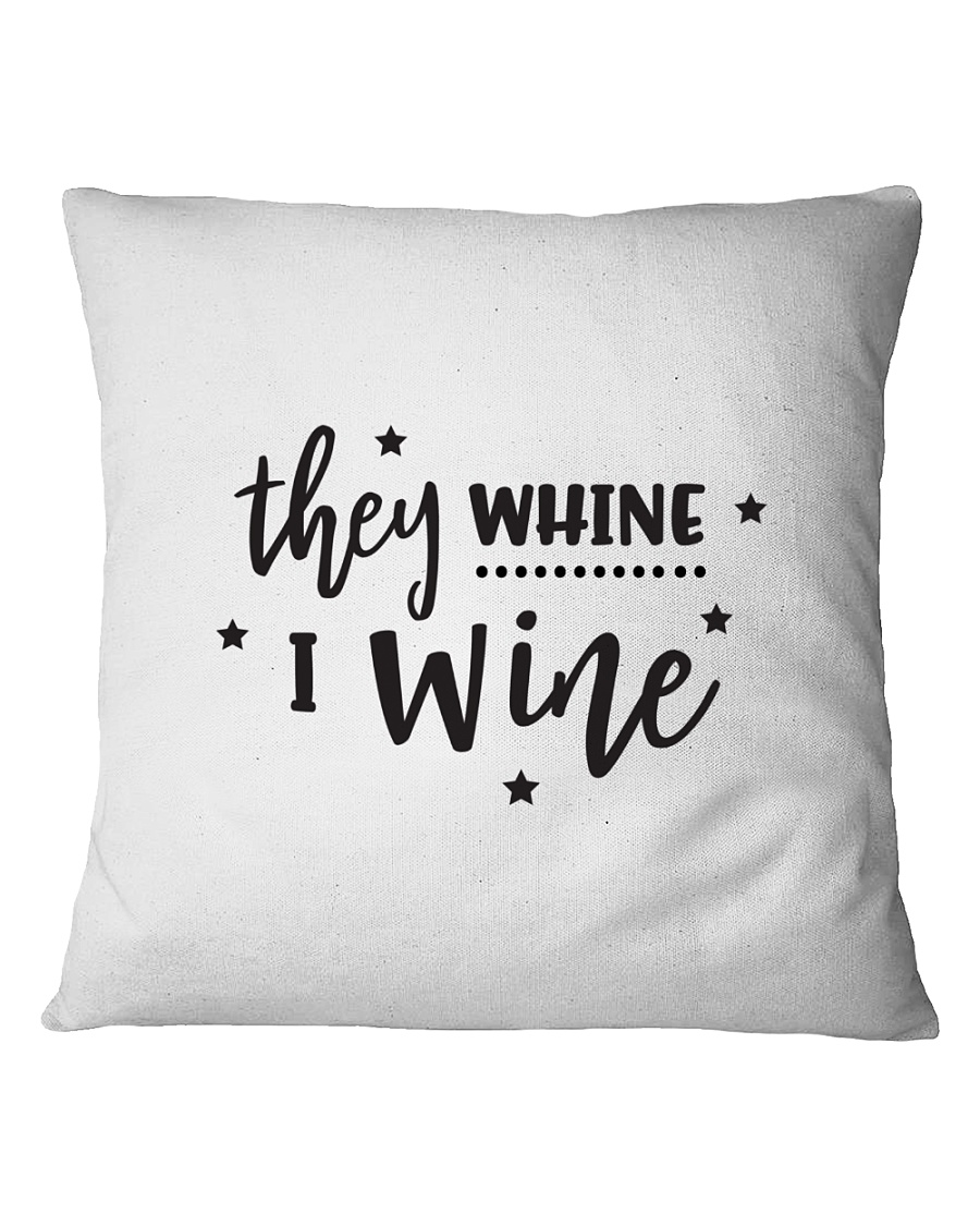I Wine in black Square Pillowcase