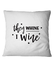 I Wine in black Square Pillowcase front